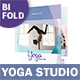 Yoga Studio Bifold / Halffold Brochure 3 - GraphicRiver Item for Sale