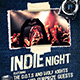 Indie Night Party Flyer - GraphicRiver Item for Sale