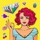 Ok Pop Art Girl - GraphicRiver Item for Sale