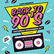 Back to 90's Event Flyer - GraphicRiver Item for Sale