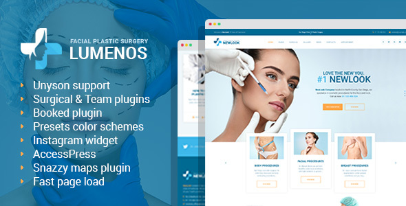 Image of Lumenos - Plastic Surgery Clinic WordPress Theme