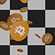 Falling Bitcoins - Orange - Alpha - Two Sizes - VideoHive Item for Sale