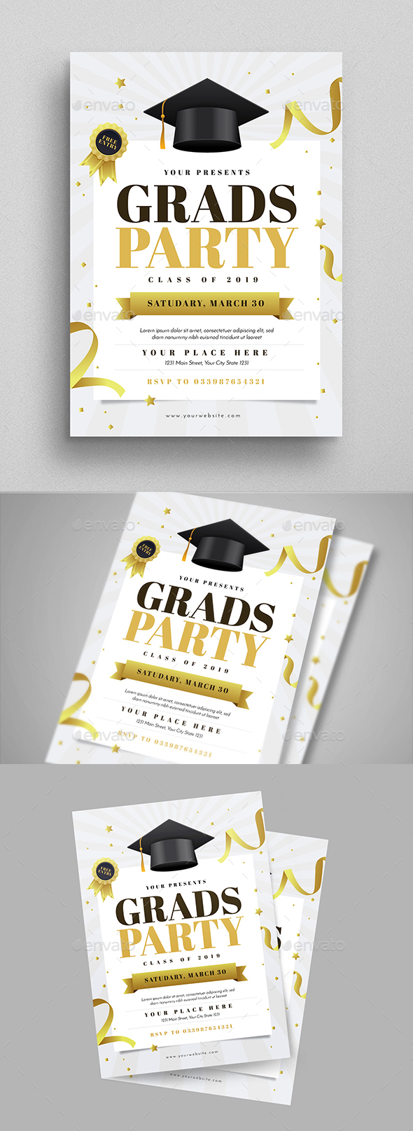 Graduation Party Flyer - Events Flyers