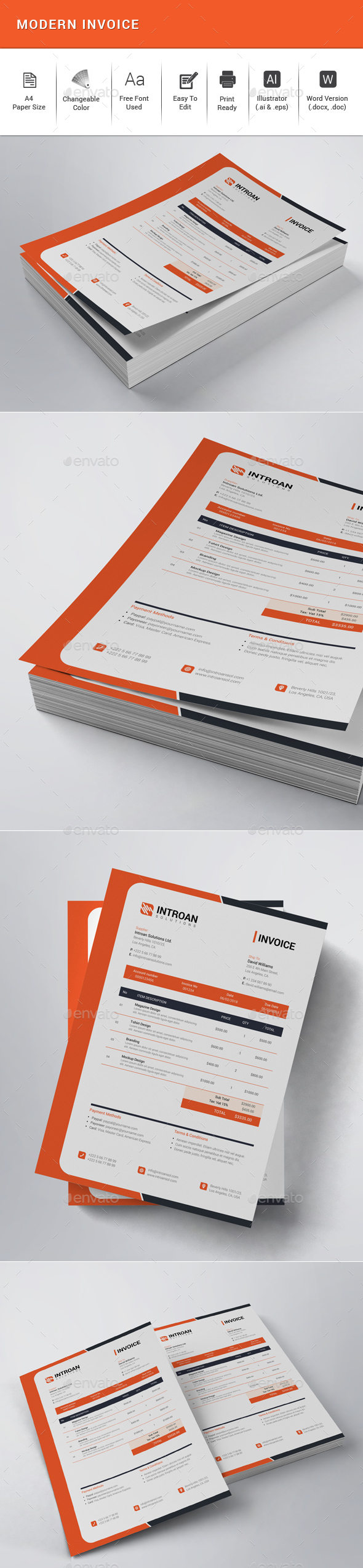 Modern Invoice - Proposals & Invoices Stationery
