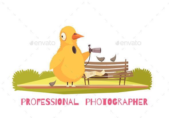 Chicken Paparazzi Costume Composition - Miscellaneous Vectors