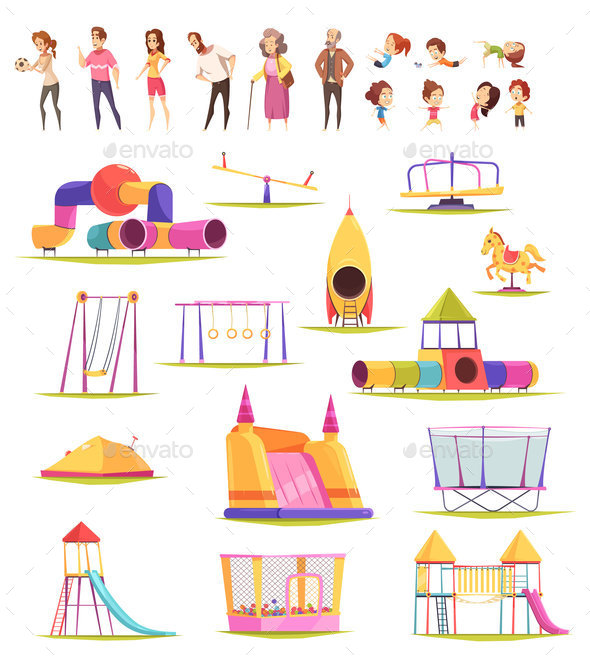 Family Yard Elements Collection - Sports/Activity Conceptual