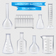 Realistic Laboratory Glassware Collection