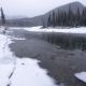 Icy Winter River in Snowstorm - VideoHive Item for Sale