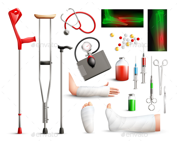 Trauma Surgery Realistic Set - Health/Medicine Conceptual