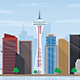 28 City Skyline Vector Illustrations