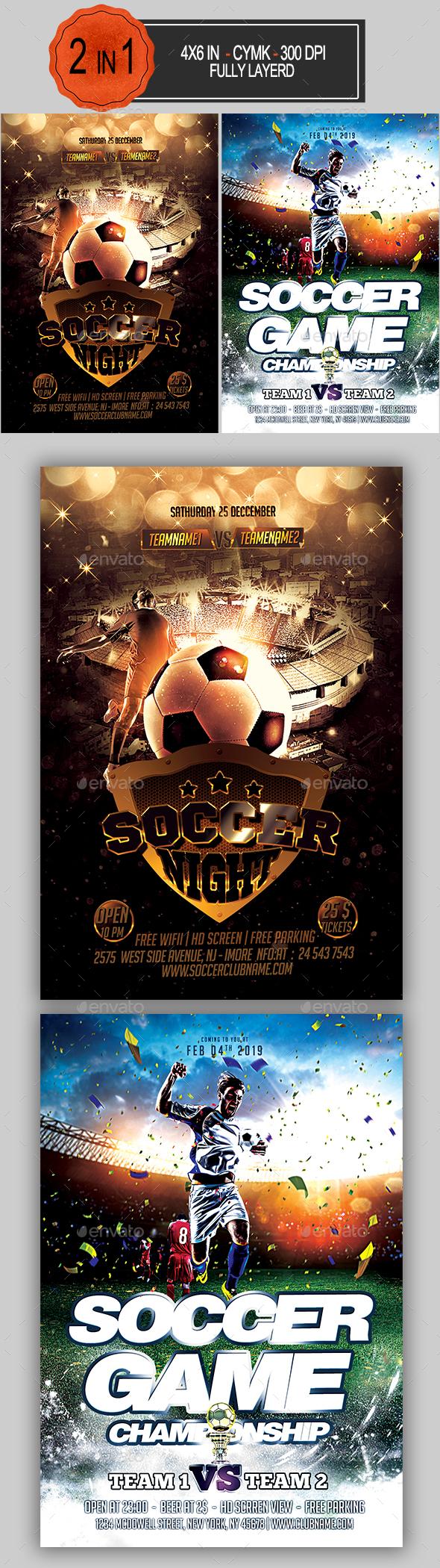 Soccer Flyer Bundle - Sports Events