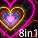 Heart Tunnel Backgrounds - VideoHive Item for Sale