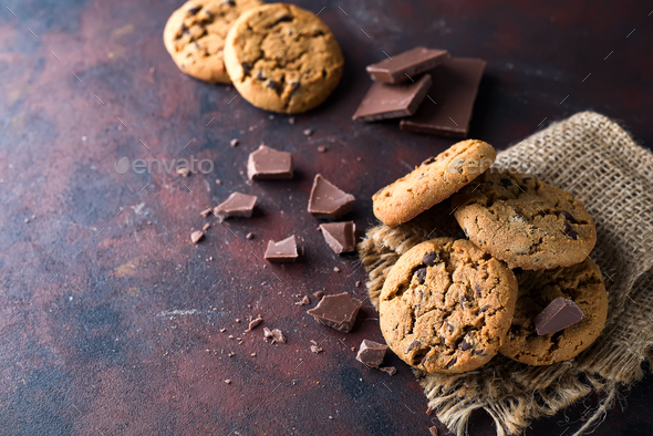 Chocolate chip cookie - Stock Photo - Images