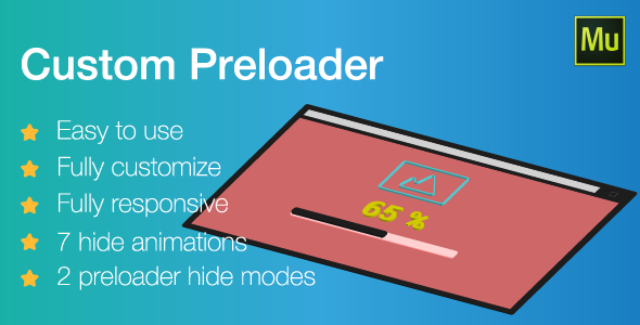 Responsive Custom Preloader | Adobe Muse widget - CodeCanyon Item for Sale