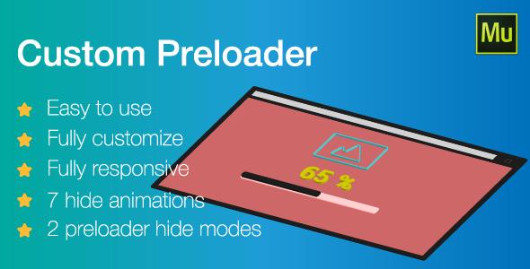 Responsive Custom Preloader | Adobe Muse widget - CodeCanyon Item for Sale