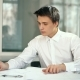 Attractive Engineer Architect Working in Office - VideoHive Item for Sale