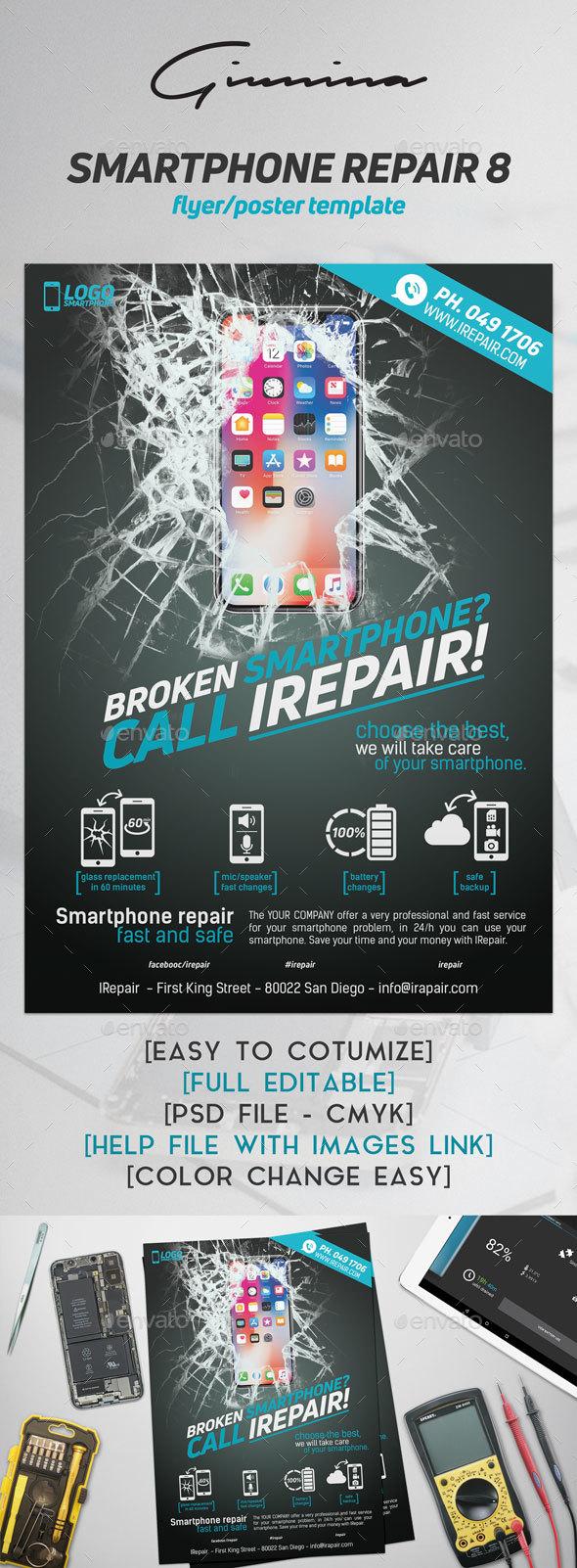 Smartphone Repair 9 Flyer/Poster - Commerce Flyers