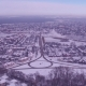 Snow-covered Street of the City, Aerial Photography - VideoHive Item for Sale