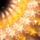 Golden Glowing Stars - VideoHive Item for Sale