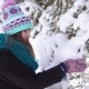 Girl Having Fun Near Snow Tree - VideoHive Item for Sale