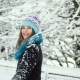 Girl in the Snow Park - VideoHive Item for Sale