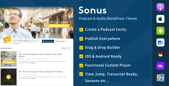 Sonus - Podcast & Audio WordPress Theme