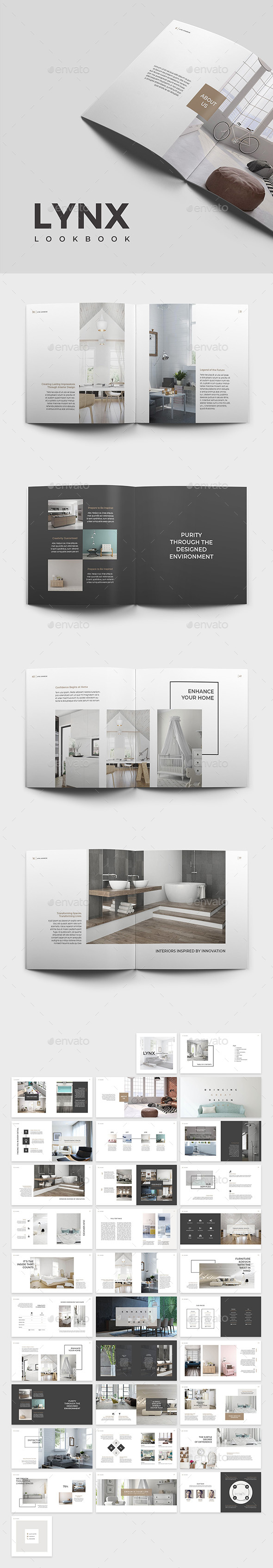 Lynx Lookbook Template - Catalogs Brochures