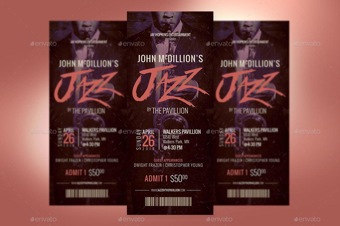 Preview Image Set/Jazz Concert Ticket  Preview Set 1 Preview Image  Set/Jazz Concert Ticket  Preview Set 2 ...  Concert Ticket Templates