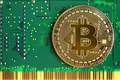 Bitcoin with green circuit board - PhotoDune Item for Sale