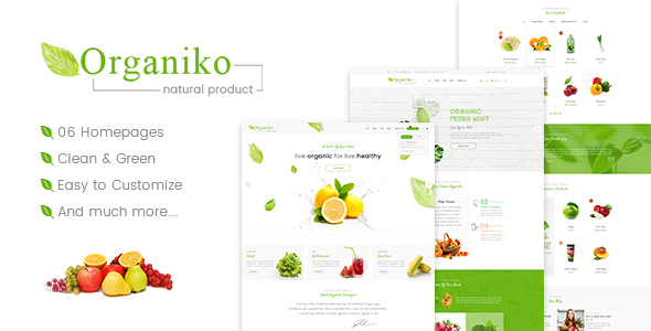 Image of Organiko - Farm & Food Business WordPress Theme