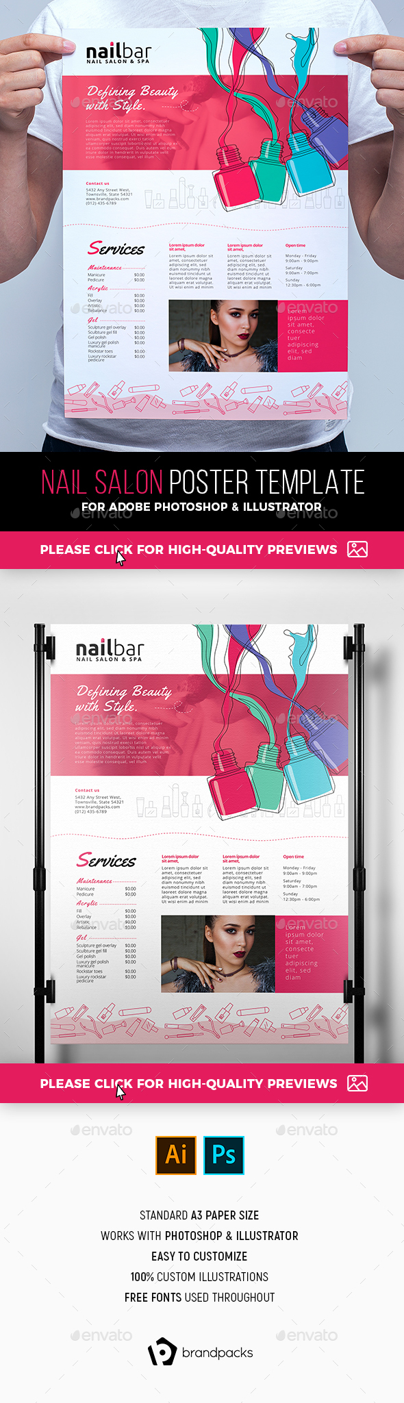 Nail Salon Poster Template - Commerce Flyers