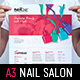 Nail Salon Poster Template - GraphicRiver Item for Sale