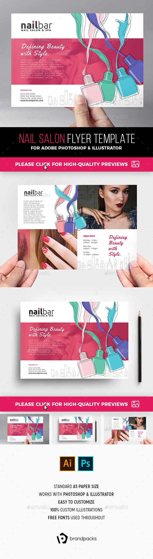 Nail Salon Flyer Template - Commerce Flyers