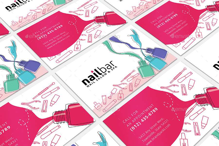 Nail salon business card template by brandpacks graphicriver nail salon business card template commerce flyers previews01previewg previews02previewg colourmoves