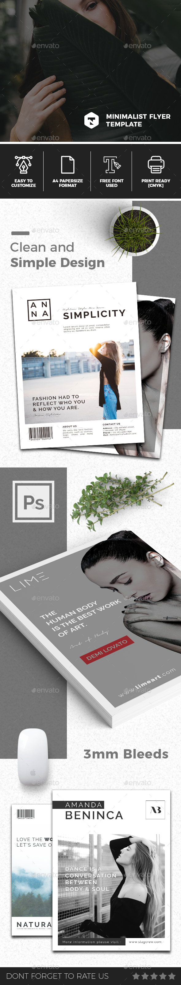 Minimalist Flyer - Flyers Print Templates