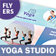 Yoga Studio Flyers 3 – 4 Options - GraphicRiver Item for Sale