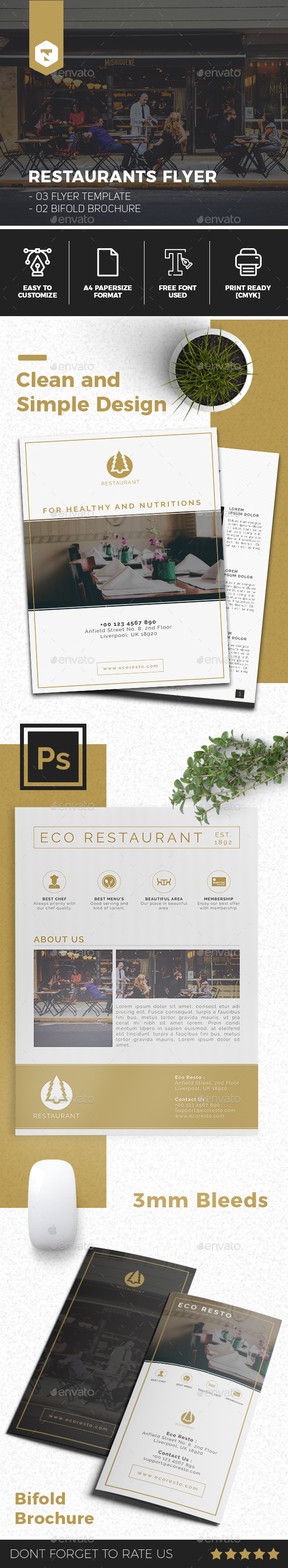 Restaurant Flyer Template - Flyers Print Templates