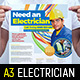 Electrician Poster Template - GraphicRiver Item for Sale
