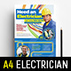 A4 Electrician Advertisement / Poster Template - GraphicRiver Item for Sale