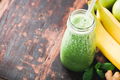 Close-up of green fresh smoothie - PhotoDune Item for Sale