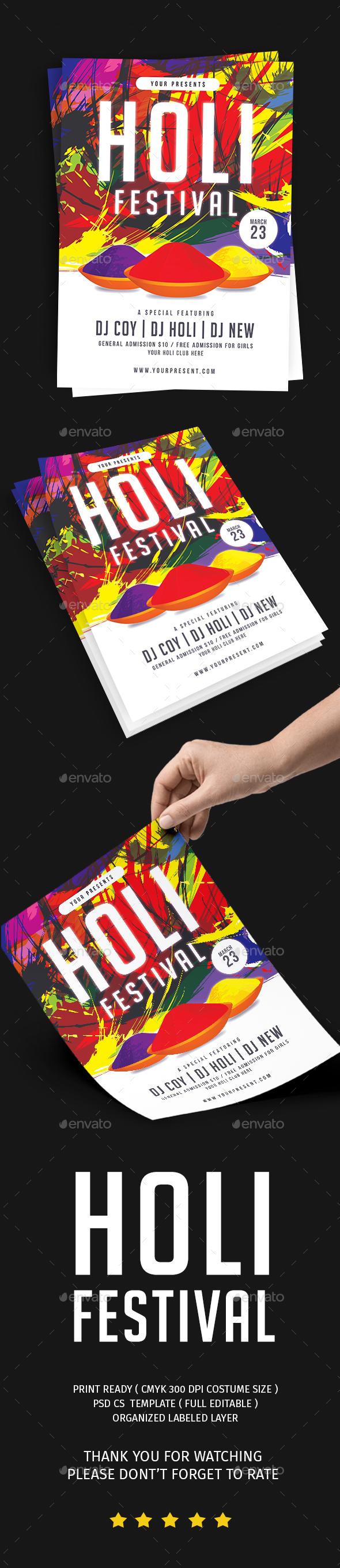 Holi Festival Flyer - Events Flyers