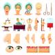 Plastic Surgery Orthogonal Icons