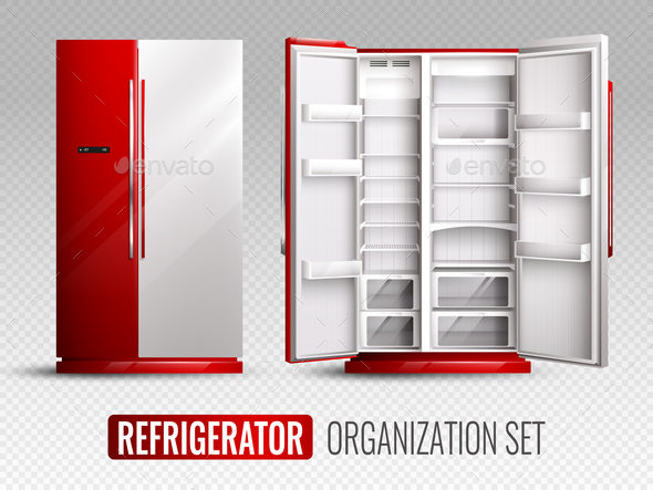 Refrigerator Organization On Transparent Background - Food Objects