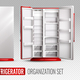 Refrigerator Organization On Transparent Background