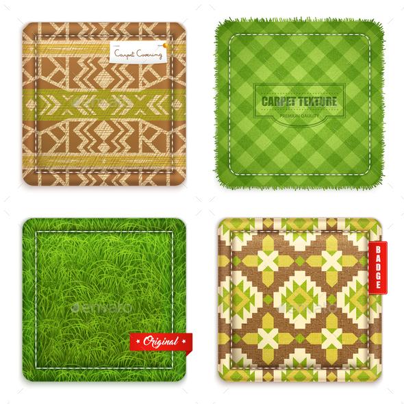 Realistic Carpet Texture Pattern Set - Patterns Decorative