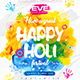 Happy Holi Party Flyer vol.2 - GraphicRiver Item for Sale
