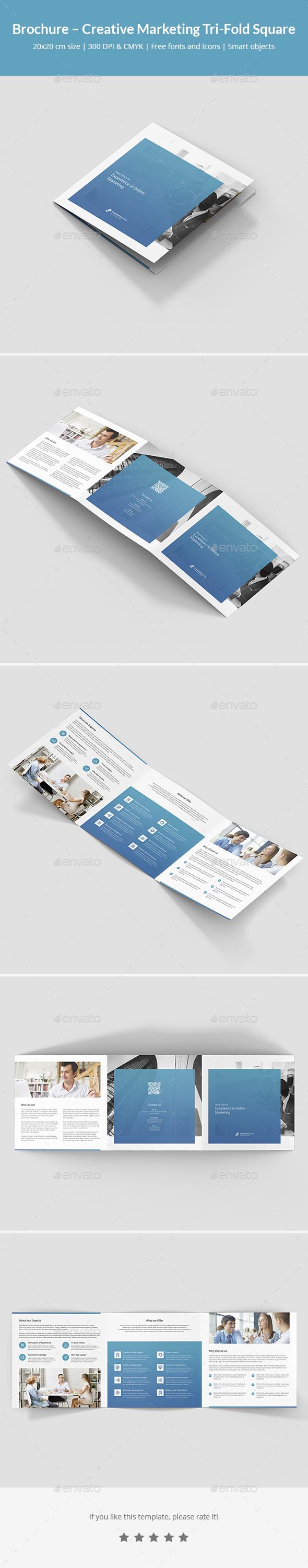 Brochure – Creative Marketing Tri-Fold Square - Corporate Brochures