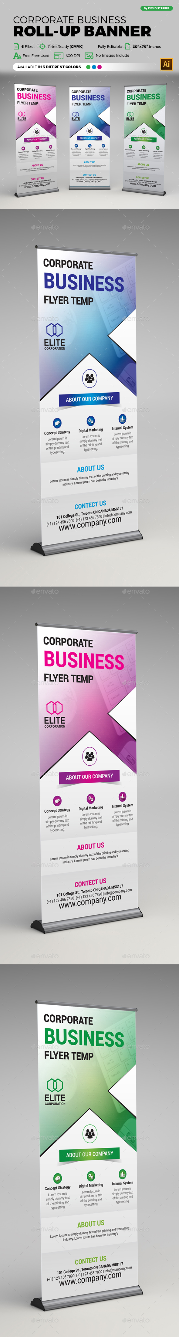 Corporate Business X Banner Template - Signage Print Templates