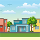 Modern Family Houses with Trees - GraphicRiver Item for Sale