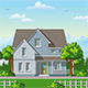 Classic Houses with Trees - GraphicRiver Item for Sale